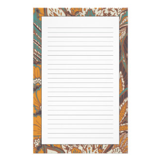 Abstract Peacock Feather Pattern Stationery