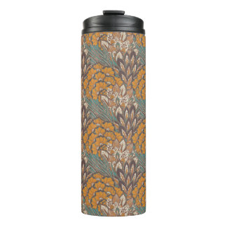 Abstract Peacock Feather Pattern Thermal Tumbler