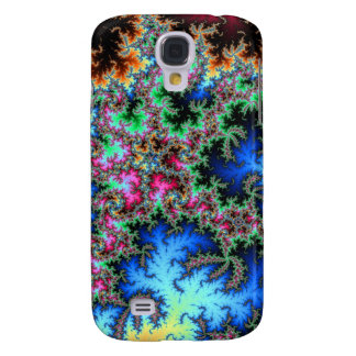 Abstract Peacock Feathers - colorful fractal art Galaxy S4 Case