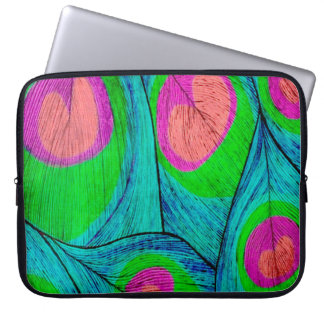 Abstract Peacock Feathers Laptop Sleeve