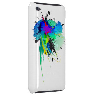 Abstract Peacock Paint Splatters Barely There iPod Cover