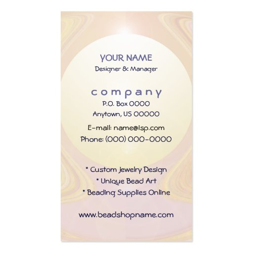Abstract Pearl Light Business Cards