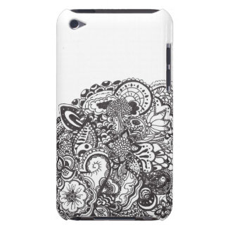 Abstract pen and ink doodle barely there iPod cover