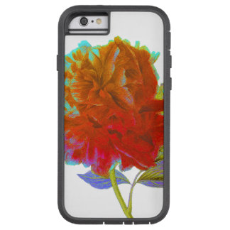 Abstract Peony Floral iPhone Tough Case