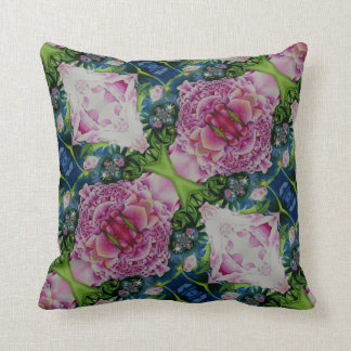 Abstract Peony Pattern Cushion