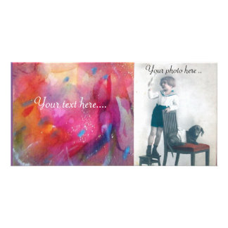 ABSTRACT PERSONALISED PHOTO CARD