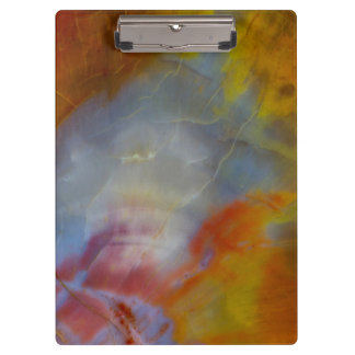 Abstract Petrified Wood close-up Clipboards