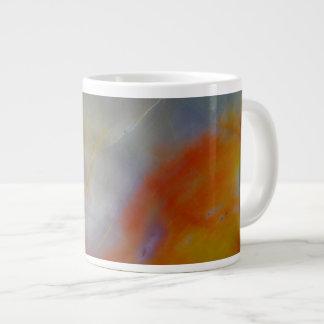 Abstract Petrified Wood close-up Large Coffee Mug