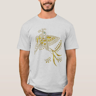 Abstract Phoenix Bird In Gold Tones T-Shirt