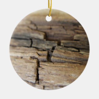 Abstract photograph of wood christmas ornament