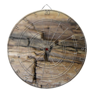 Abstract photograph of wood dartboard