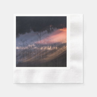 abstract photograph sunset disposable napkin