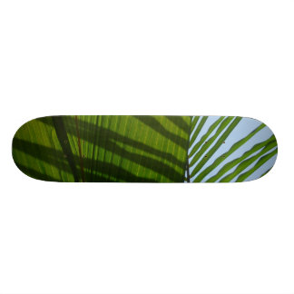 Abstract Photography Green Leaf Custom Skate Board