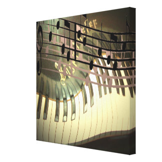 Abstract Piano Canvas Print