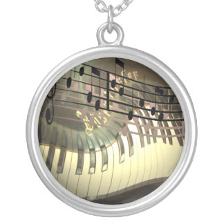 Abstract Piano Necklace