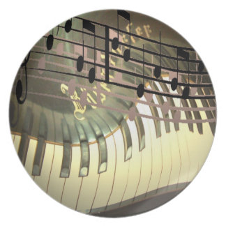 Abstract Piano Plate