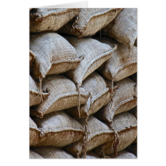 Abstract Pile of Sandbags Barrier Pattern (1) Greeting Card