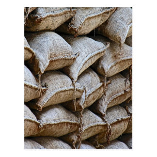 Abstract Pile of Sandbags Barrier Pattern (1) Postcard