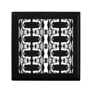 Abstract pillers small square gift box