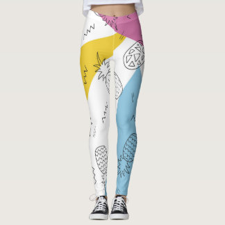 Abstract Pineapple Leggings