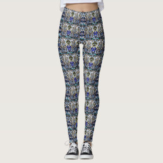Abstract Pineapple Pattern Leggings