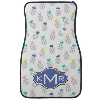 Abstract Pineapples | Monogram Car Mat