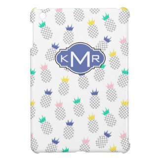 Abstract Pineapples | Monogram iPad Mini Covers