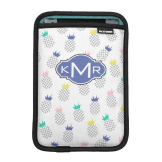 Abstract Pineapples | Monogram iPad Mini Sleeve