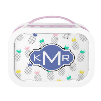 Abstract Pineapples | Monogram Lunch Box