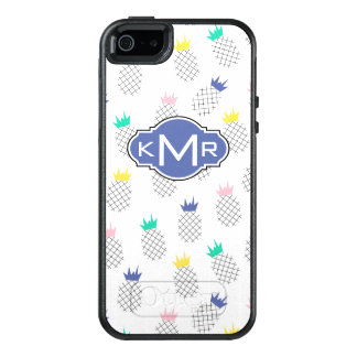 Abstract Pineapples | Monogram OtterBox iPhone 5/5s/SE Case