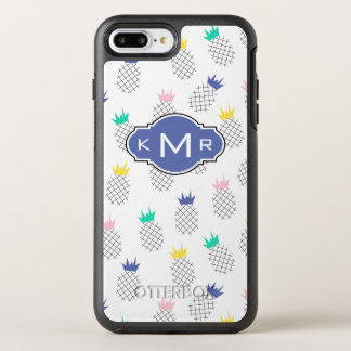 Abstract Pineapples | Monogram OtterBox Symmetry iPhone 8 Plus/7 Plus Case