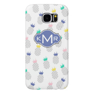 Abstract Pineapples | Monogram Samsung Galaxy S6 Cases