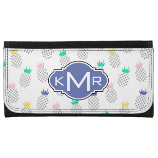 Abstract Pineapples | Monogram Wallets