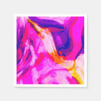 Abstract Pink and Blue Design Disposable Napkins