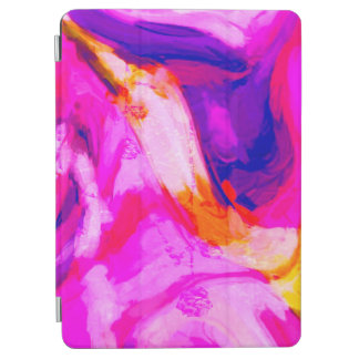 Abstract Pink and Blue Design iPad Air Cover