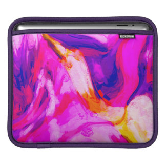 Abstract Pink and Blue Design iPad Sleeve