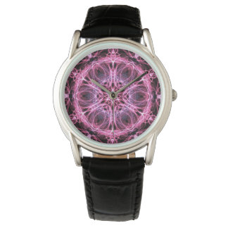 Abstract Pink and Blue Fractal Watch