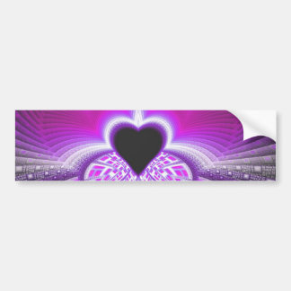 Abstract Pink and Purple Fractal Pattern Bumper Stickers