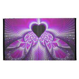 Abstract Pink And Purple Fractal Pattern iPad Folio Cover