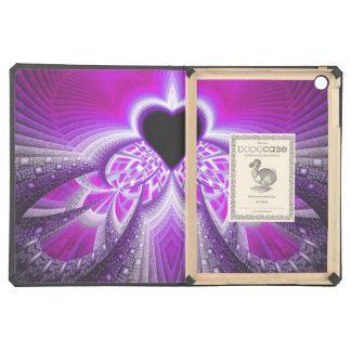 Abstract Pink And Purple Fractal Pattern iPad Air Cases
