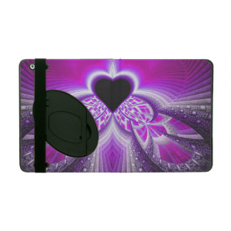Abstract Pink And Purple Fractal Pattern iPad Folio Case