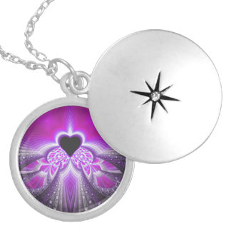 Abstract Pink and Purple Fractal Pattern Jewelry
