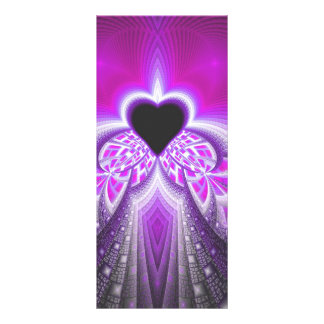 Abstract Pink And Purple Fractal Pattern Rack Card Design