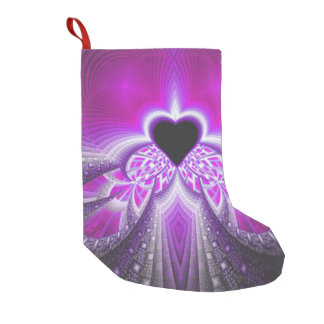 Abstract Pink and Purple Fractal Pattern Small Christmas Stocking