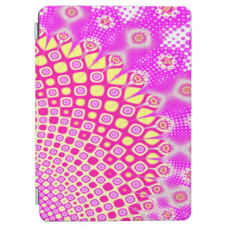 Abstract Pink And White Pattern iPad Air Cover