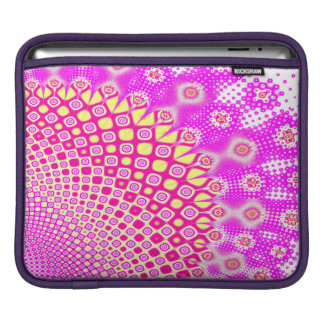 Abstract Pink And White Pattern iPad Sleeve