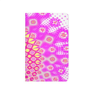 Abstract Pink And White Pattern Journal