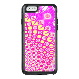 Abstract Pink And White Pattern OtterBox iPhone 6/6s Case