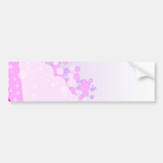 Abstract Pink Background Bumper Sticker