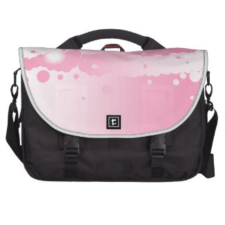 Abstract Pink Background Laptop Commuter Bag